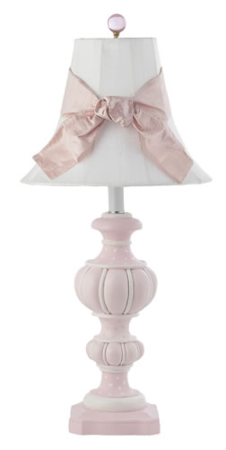 Large Pink Urn Table Lamp with White Shade by Jubilee