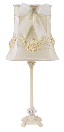 Medium Ivory Table Lamp with Ivory Shade by Jubilee