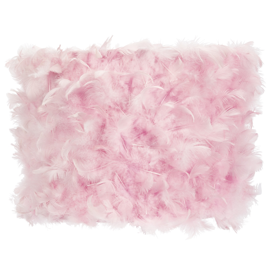 Large Shade Drum Feather Pink