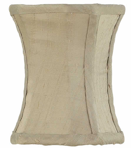 Solid Taupe Hourglass Chandelier Shade