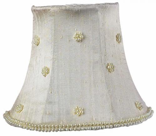Ivory Pearl Dot Chandelier Shade