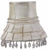 Ivory Skirt Dangle Chandelier Shade