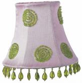 Pink & Green Swirl Chandelier Shade