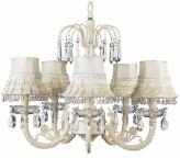 Ivory Waterfall Chandelier (optional Ivory Shades)