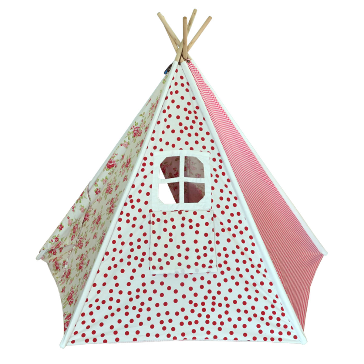 Shabby Chic Kids Canvas Teepee Thumbnail 1