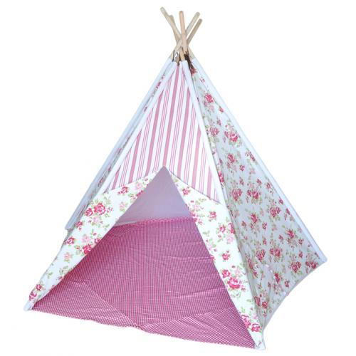 Shabby Chic Kids Canvas Teepee Thumbnail