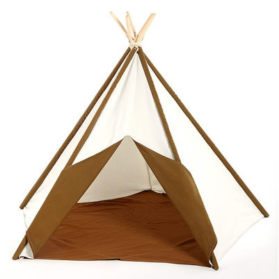 Brown and White Kids Canvas Teepee Thumbnail