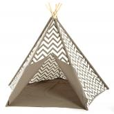 Gray Chevron Kids Canvas Teepee