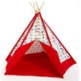 Red Alphabet Kids Canvas Teepee