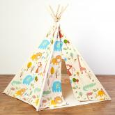 Whimsy Safari Kids Canvas Teepee