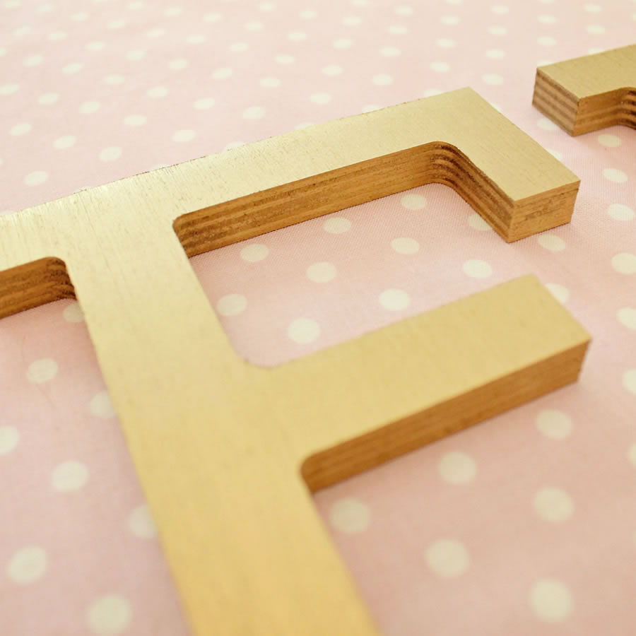 gold block wood wall letters thumbnail 1