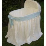 Ella Bassinet with Blue Bow by Maddie Boo Bedding
