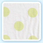 Jumbo Polka Dot Spring Fabric by Maddie Boo