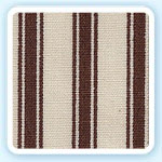 Chocolate Ticking Fabric by Maddie Boo