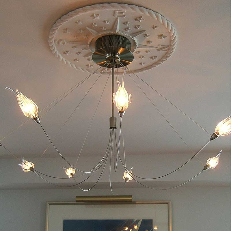 Compass rose chandelier medallion solid white by marie ricci compass rose chandelier medallion solid white thumbnail 1 aloadofball Image collections