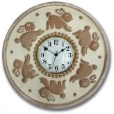 Bunny Clock - Distressed  Ivory