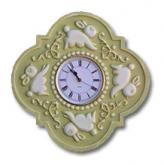 Bunny Clock - Distressed  Olive Green