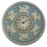 Bunny Clock - Distressed  Powder Blue