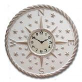 Directions Clock - Distressed Ivory
