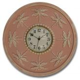 Dragonfly Clock - Distressed Pink