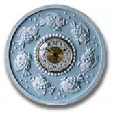 Fish Clock - Distressed Powder Blue
