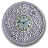 Flower Clock - Distressed Pale Lilac