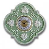 Ladybug Clock - Distressed Pale Green