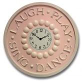 Laugh Play Clock - Distressed Pale Pink