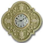 Pineapple Clock - Distressed Olive Green