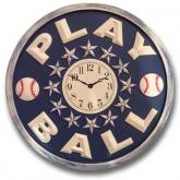 Play Ball Clock - Distressed Navy