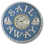 Sail Away Clock - Distressed Light Blue