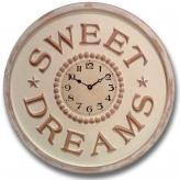 Sweet Dreams Clock - Distressed Ivory