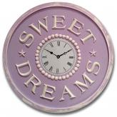 Sweet Dreams Clock - Distressed Lilac