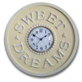 Sweet Dreams Clock - Distressed Yellow
