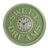 Sweet Dreams Clock - Pale Green