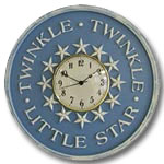 Twinkle Clock - Distressed Light Blue
