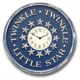 Twinkle Clock - Distressed Navy