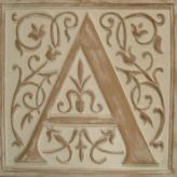 Letter Plaque A - Distressed Ivory