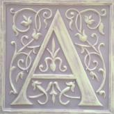 Letter Plaque A - Distressed Lilac