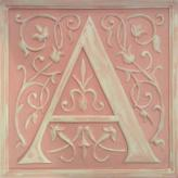 Letter Plaque A - Distressed Pink