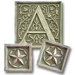 Letter Plaque A Trio - Distressed Olive Green