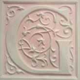 Letter Plaque G - Distressed Pink