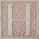Letter Plaque H - Distressed Pink