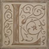 Letter Plaque L - Distressed Ivory