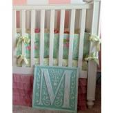 Letter Plaque M - Distressed Pale Green