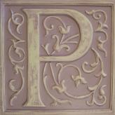 Letter Plaque P - Distressed Lilac