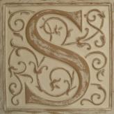 Letter Plaque S - Distressed Ivory