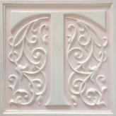 Letter Plaque T - Distressed Pale Pink