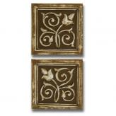 Little Plaques Mediterranean - Distressed Brown