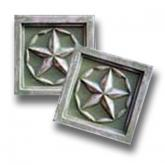 Little Plaques Stars - Distressed Olive Green